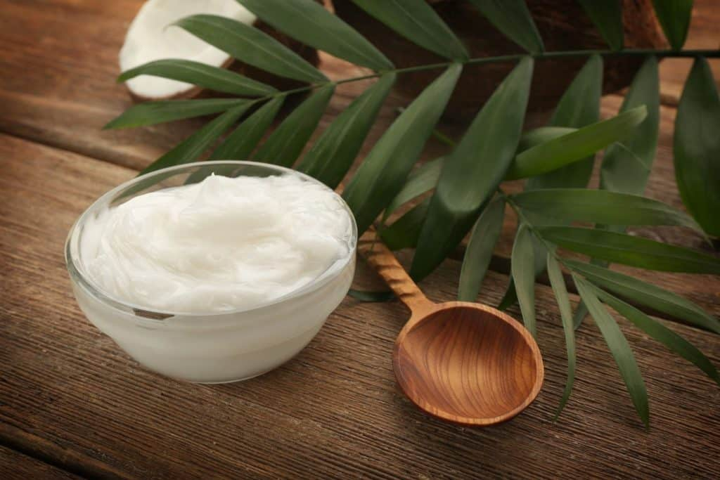 bowl of coconut oil