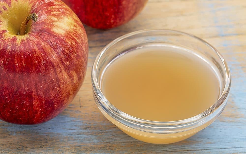 bowl of apple cider vinegar