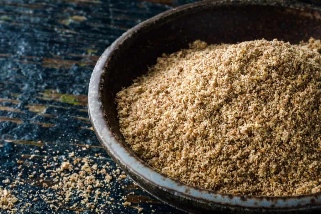 ground flaxseed in a bowl