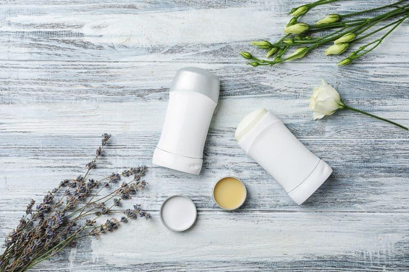 deodorant on table