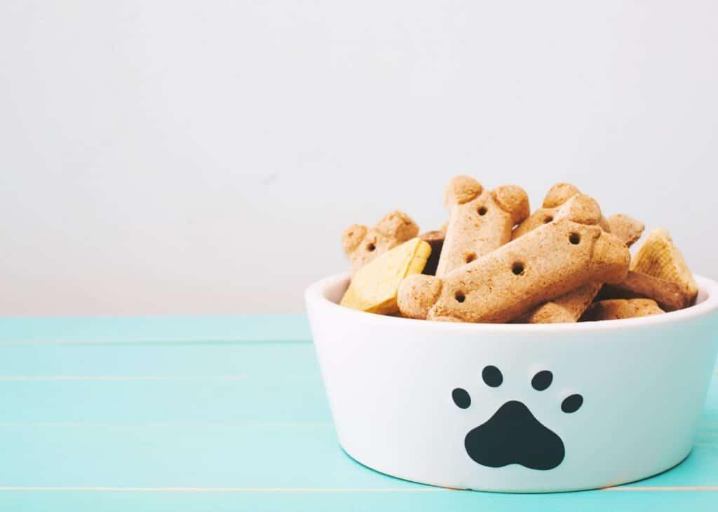 bowl of dog treats