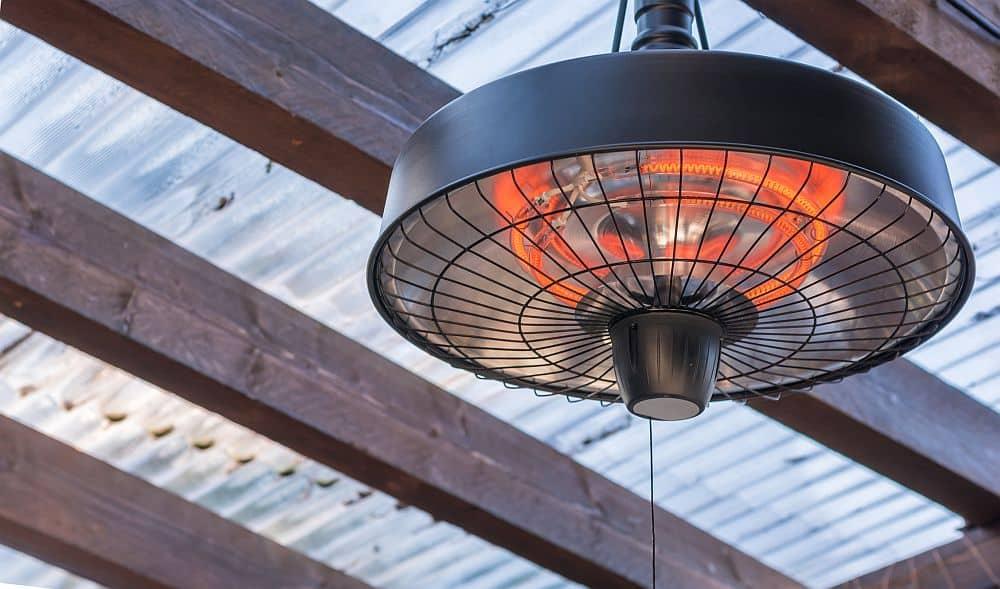 heat lamp on ceiling