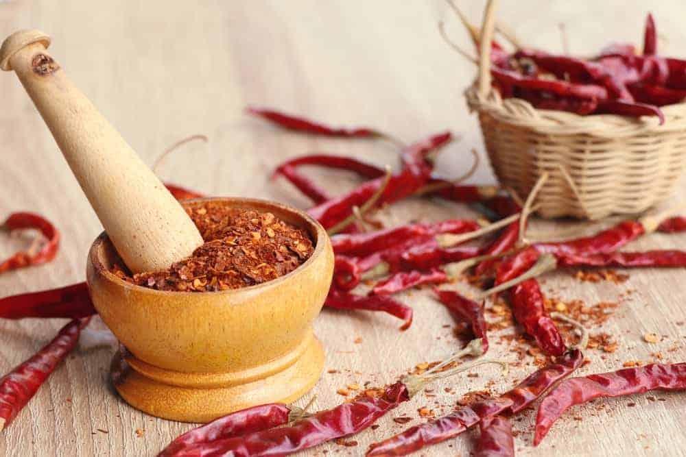 mixed cayenne pepper